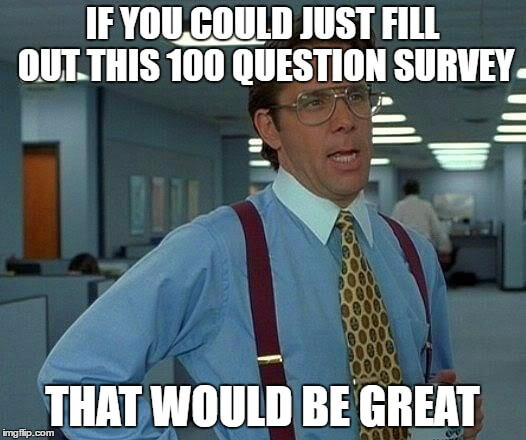 Can you complete this 100 question survey