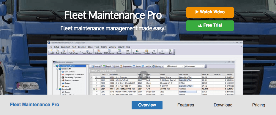 Download fleet maintenance pro fleet maintenance software.