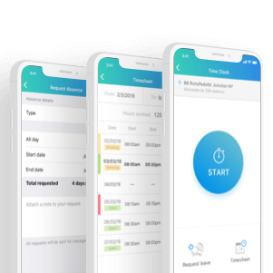 employee time clock app mobile