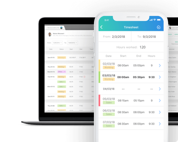 time clock app payrolls timesheets
