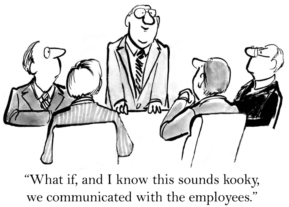 internal communication comic strip