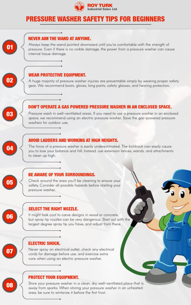 Pressure Washer Safety Tips For Beginners infographic